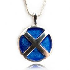 Saltire Pendant with Enamel